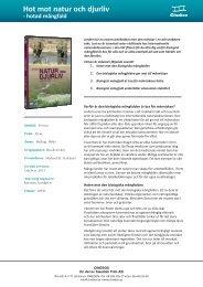Hot mot natur och djurliv - hotad mångfald - SLI.se