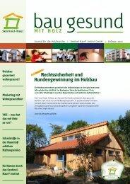 Rechtssicherheit und Kundengewinnung im Holzbau