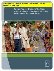 Seeing People Through The Trees - Rights and Resources Initiative