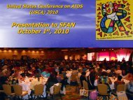 Slideshow of USCA 2010 Highlights - The AIDS Institute