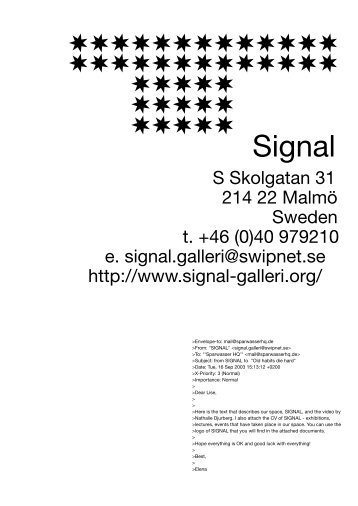 Signal (Malmö, Sweden) - Sparwasser HQ