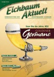 """Jetzt ist es raus: """"goldener germane"""" heißt unser Bier ... - Eichbaum"""