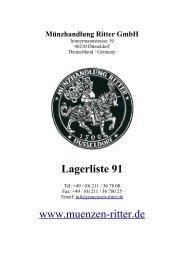 Lagerliste 91 - Münzhandlung Ritter GmbH