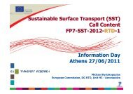 Sustainable Surface Transport (SST) Call Content FP7-SST-2012 ...
