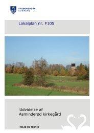 Udvidelse af Asminderød kirkegård Lokalplan nr. F105