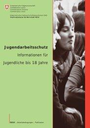 Jugendarbeitsschutz Informationen für Jugendliche bis 18 Jahre