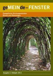 Gemeindebrief 02/2011 - Evangelische Kirchengemeinde Binzen