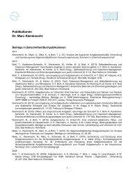Publikationen Dr. Marc Kleinknecht - Schulpädagogik
