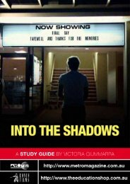 to download INTO THE SHADOWS study guide - Ronin Films