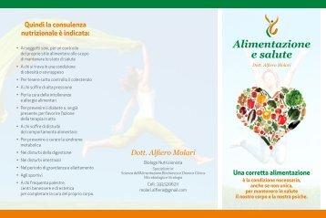 Alimentazione e salute - Dieta della salute - Dott. Fabrizio MODA