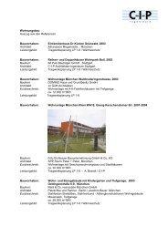 Wohnungsbau Auszug aus den Referenzen Bauvorhaben - CIP GmbH