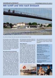 Mit Schiff und Velo nach Breisach - Birseck Magazin