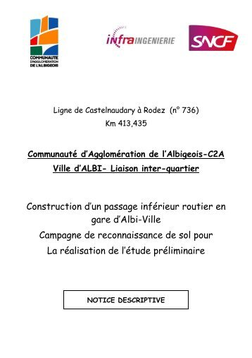 Construction d'un passage inférieur routier en gare d'Albi-Ville ...