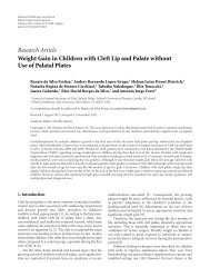 Weight Gain in Children with Cleft Lip and Palate without Use of ...