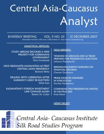 Johanna Popjanevski - The Central Asia-Caucasus Analyst