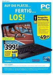 Monatsflyer August 2012 - PC Spezialist Moers