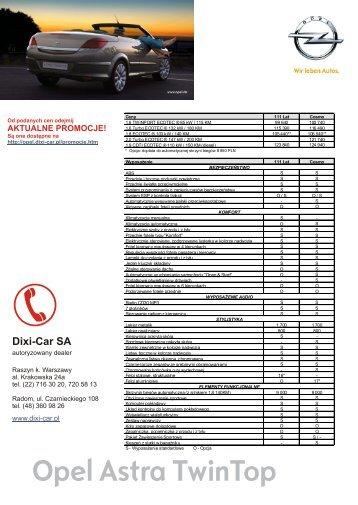CENNIK Pełna wersja i dane techniczne - Opel Dixi-Car