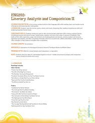 ENG202: Literary Analysis and Composition II - K12.com