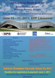 June 15 - 17, 2011; EPF Lausanne - Austrian Physical Society