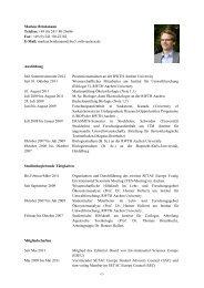 Lebenslauf als PDF-Datei - Institut für Ökologie, Ökotoxikologie und ...