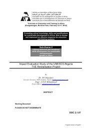 Impact Evaluation Study of the UNESCO-Nigeria TVE ... - ADEA