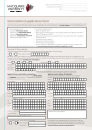 International application form - International - Macquarie University