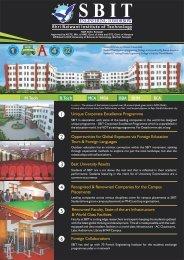 to download the SBIT Information Brochure