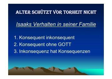 1. Mose 27 - Bibelgemeinde-Bremen