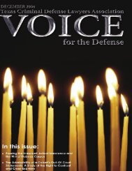 December 2004 VOICE FOR THE DEFENSE 1