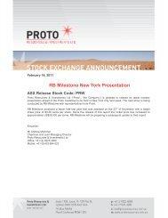 RB Milestone New York Presentation - GOLDINVEST.de