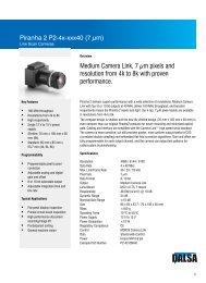 Piranha2 P2-4x 7 µm Datasheet - Teledyne DALSA Inc