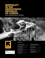 mortality in the democratic republic of congo - Refugee Health ...