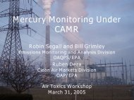 Mercury Monitoring Under CAMR by Robin Segall and Bill Grimley