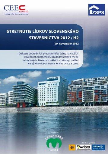 Stretnutie lídrov SlovenSkého Stavebníctva 2012 / h2 - INFOMA