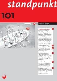 Standpunkt 101, Januar 2009 - vpod Bern