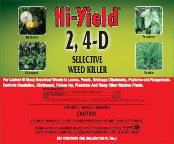 Label 21416 2 4-D Selective Weed Killer Approved 03 ... - Fertilome
