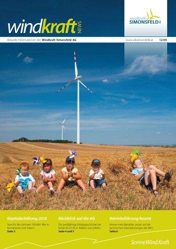 Ausgabe Dezember 2009 - Windkraft Simonsfeld