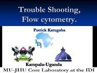 Kampala - Trouble Shooting, Flow cytometry (Karugaba)