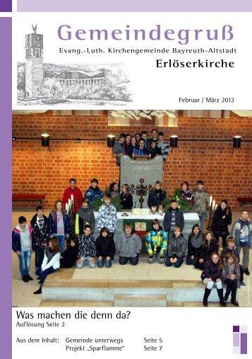 GUT GENUG! - Evangelisch-Lutherische Erlöserkirche Bayreuth ...