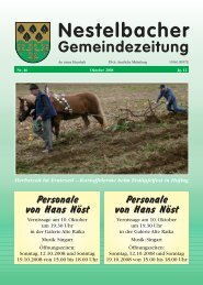 Oktober 2008 / Nr. 46 (3,49 MB) - Nestelbach im Ilztal