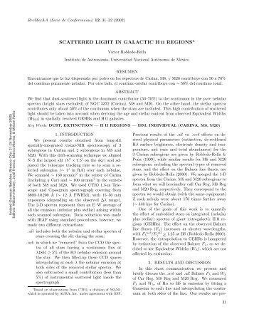 scattered light in galactic h ii regions1 - Universidad Nacional ...