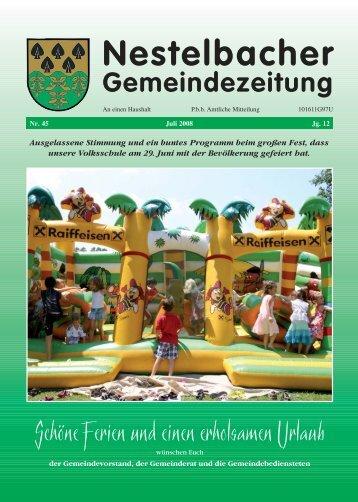 Juli 2008 / Nr. 45 (4,86 MB) - Nestelbach im Ilztal