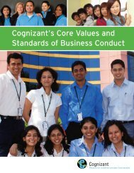 Cognizant's Core Values and Standards of Business Conduct