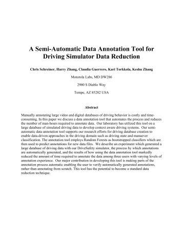 A Semi-Automatic Data Annotation Tool for Driving Simulator Data ...