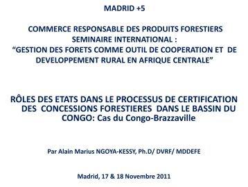 Réunion sous-régionale de réflexion sur la certification ... - WWF