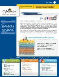Cyberoam CR500i Datasheet