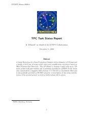 TPC Task Status Report - eudet