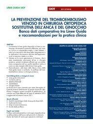 La prevenzione del tromboembolismo venoso in chirurgia ...