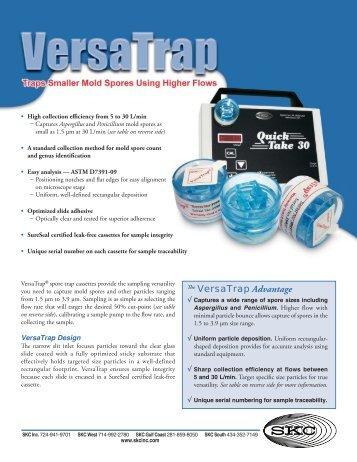 VersaTrap Product Data Bulletin (PDF) - SKC Inc.