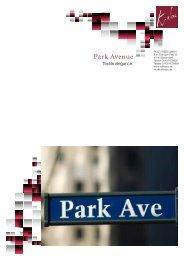product sheet - PARK AVENUE - Rolf Krebs GmbH